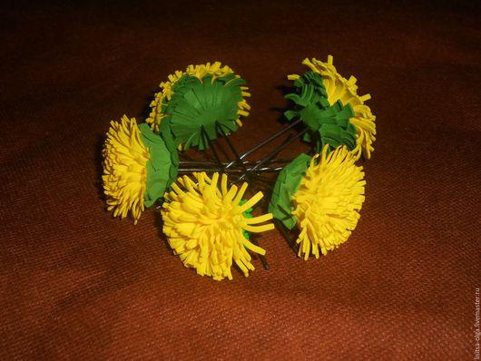 """Заколки ручной работы. Ярмарка Мастеров - ручная работа. Купить Шпильки для волос """"Одуванчик"""". Handmade. Желтый, украшение для волос, одуванчики"""