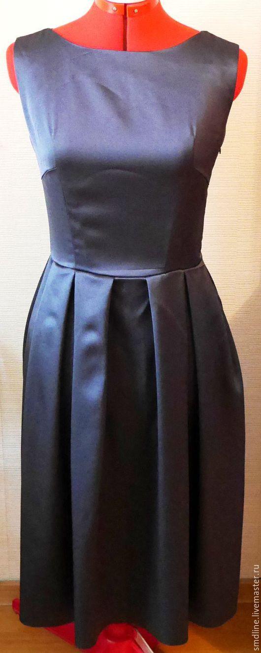 Платья ручной работы. Ярмарка Мастеров - ручная работа. Купить Платье коктельное. Handmade. Темно-серый, платье без рукавов