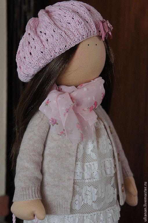 Человечки ручной работы. Ярмарка Мастеров - ручная работа. Купить Текстильная кукла.. Handmade. Розовый, Кукольный трикотаж