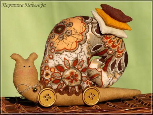 Куклы Тильды ручной работы. Ярмарка Мастеров - ручная работа. Купить Тильда - Улиточка. Handmade. Улиточка, кукла Тильда, хлопок