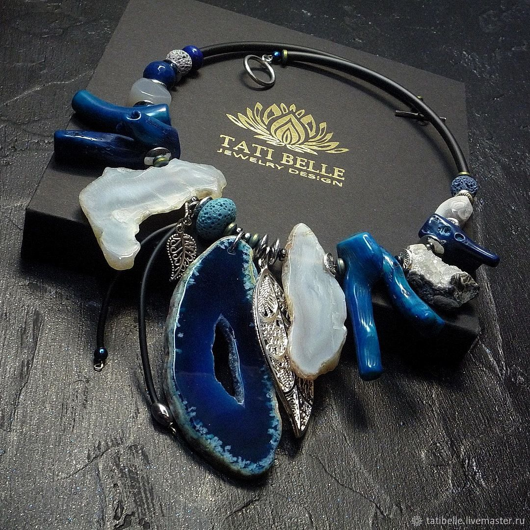 Necklace made of natural stones 'Mystical Depth', Necklace, Moscow,  Фото №1