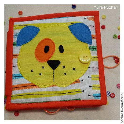 Развивающие игрушки ручной работы. Ярмарка Мастеров - ручная работа. Купить Развивающая книжка - малышка. Handmade. Разноцветный, книжка из ткани