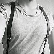 Аксессуары ручной работы. Ярмарка Мастеров - ручная работа Мужские кожаные подтяжки!. Handmade.