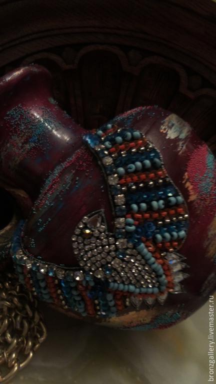 """Вазы ручной работы. Ярмарка Мастеров - ручная работа. Купить Ваза """"Орел"""". Handmade. Разноцветный, мексиканский стиль, бордовый цвет"""