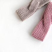 Аксессуары handmade. Livemaster - original item Headband double sided beige lingonberry. Handmade.