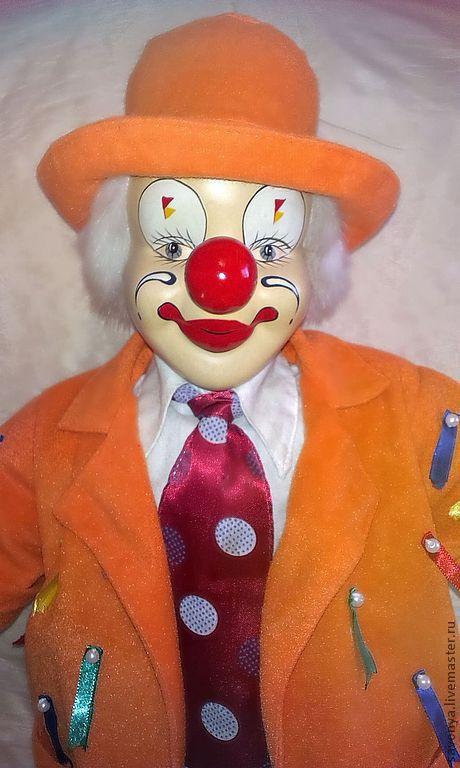 """Коллекционные куклы ручной работы. Ярмарка Мастеров - ручная работа. Купить Авторский клоун """"Апельсин"""". Handmade. Рыжий, фарфор"""