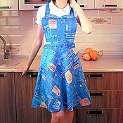 Фартуки ручной работы. Ярмарка Мастеров - ручная работа Фартуки: Фартук для кухни. Handmade.