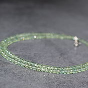 Работы для детей, handmade. Livemaster - original item Beads of natural peridot. Handmade.