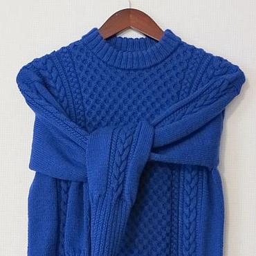 """Одежда ручной работы. Ярмарка Мастеров - ручная работа Вязаный мужской свитер """"Королевский синий"""". Handmade."""