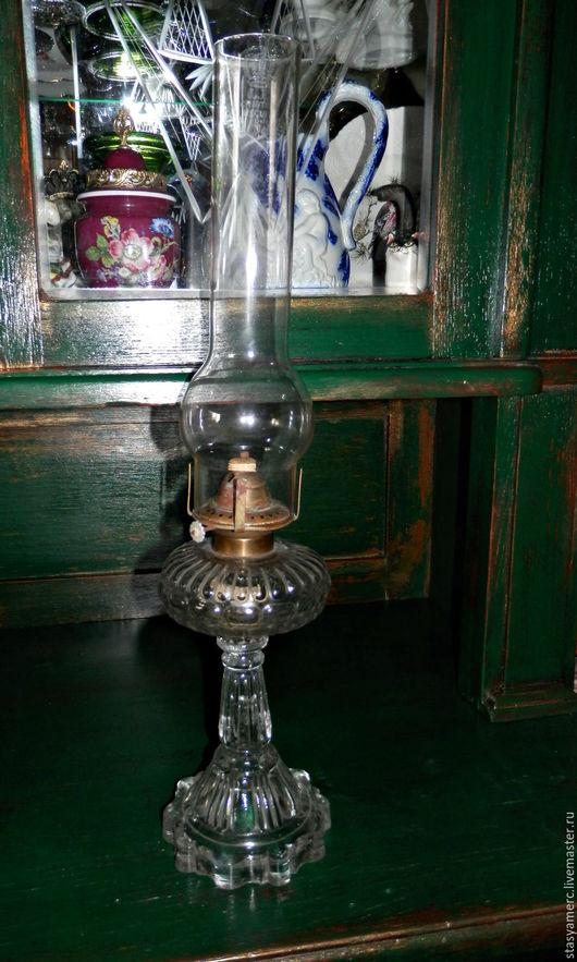 Винтажные предметы интерьера. Ярмарка Мастеров - ручная работа. Купить Антикварная  Керосиновая лампа Лёд. Handmade. Керосиновая лампа, свет