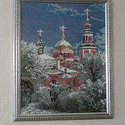 Картины и панно ручной работы. Ярмарка Мастеров - ручная работа Зимняя церковь. Handmade.