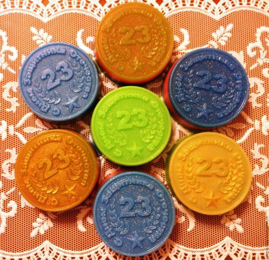 Мыло ручной работы. Ярмарка Мастеров - ручная работа. Купить Сувенирное мыло   23 февраля. Handmade. Сувенирное мыло