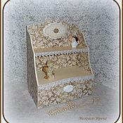 """Для дома и интерьера ручной работы. Ярмарка Мастеров - ручная работа Полочка (мини комод) настольная """"Ангел в золотом"""". Handmade."""