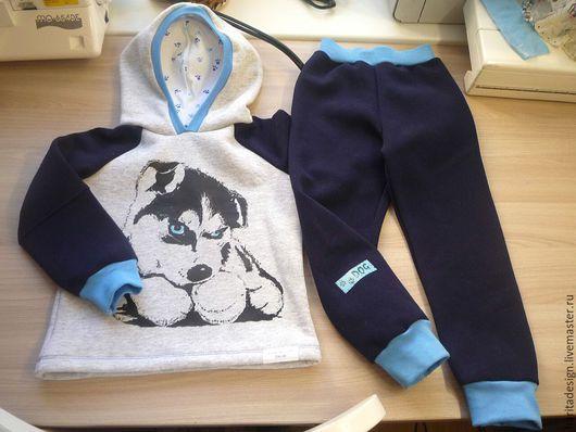 Костюмы ручной работы. Ярмарка Мастеров - ручная работа. Купить Детский костюм. Handmade. Разноцветный, одежда для мальчиков, рибана