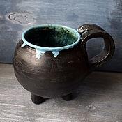 Посуда handmade. Livemaster - original item Witch`s Cauldron Mug - large. Handmade.