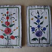Картины и панно handmade. Livemaster - original item Fresh interior panels on the old boards