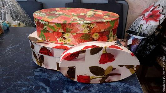 Упаковка ручной работы. Ярмарка Мастеров - ручная работа. Купить Овальный картонные коробки. Handmade. Разноцветный, коробочка, упаковка для мыла