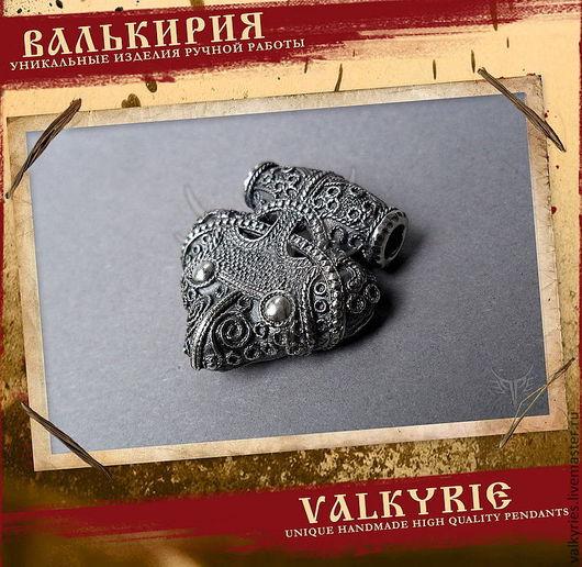 """Кулоны и подвески ручной работы  из серебра 925 пробы.Кулон """"Молот Тора ворон .""""Мастерская Валькирия."""