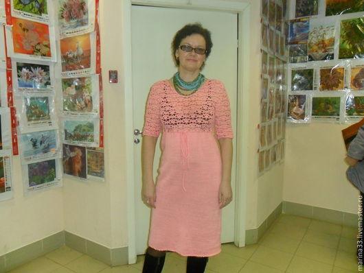 Платья ручной работы. Ярмарка Мастеров - ручная работа. Купить Розовое чудо. Handmade. Спицы для вязания