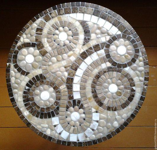 Мебель ручной работы. Ярмарка Мастеров - ручная работа. Купить Кованый кофейный столик с мозаичной столешницей из натурального камня. Handmade.