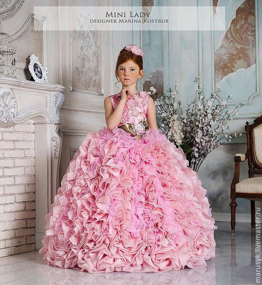 Одежда для девочек, ручной работы. Ярмарка Мастеров - ручная работа. Купить Платье Кассандра- Люкс-Шебби-шик. Handmade. Розовый