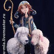 Куклы и игрушки ручной работы. Ярмарка Мастеров - ручная работа Пастушок облачных овец. Handmade.