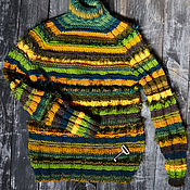 Одежда ручной работы. Ярмарка Мастеров - ручная работа Женский свитер Вечнозеленое. Handmade.