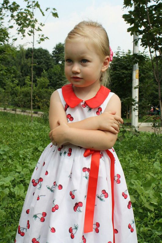 """Одежда для девочек, ручной работы. Ярмарка Мастеров - ручная работа. Купить Платье для принцессы  """"Вишенка"""" Скидка!. Handmade. Платье"""