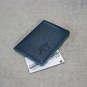 Сумки и аксессуары handmade. Livemaster - original item Passport cover with RFID protection for travel or autodocs. Handmade.