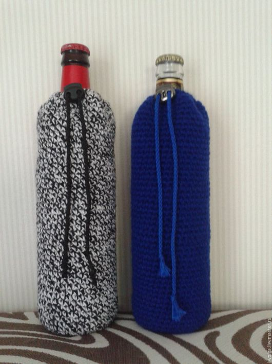 Подарки для мужчин, ручной работы. Ярмарка Мастеров - ручная работа. Купить Чехол на бутылку/банку. Handmade. Чехол на бутылку, бутылка, пивная