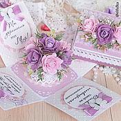 Открытки ручной работы. Ярмарка Мастеров - ручная работа Открытка с цветами (открытка 8 Марта, открытка для женщины). Handmade.
