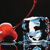 """Материалы для творчества handmade. Livemaster - original item Набор для вышивания бисером """"Вишня со льдом"""". Handmade."""