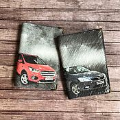 Канцелярские товары handmade. Livemaster - original item Covers with cars and license plates. Handmade.
