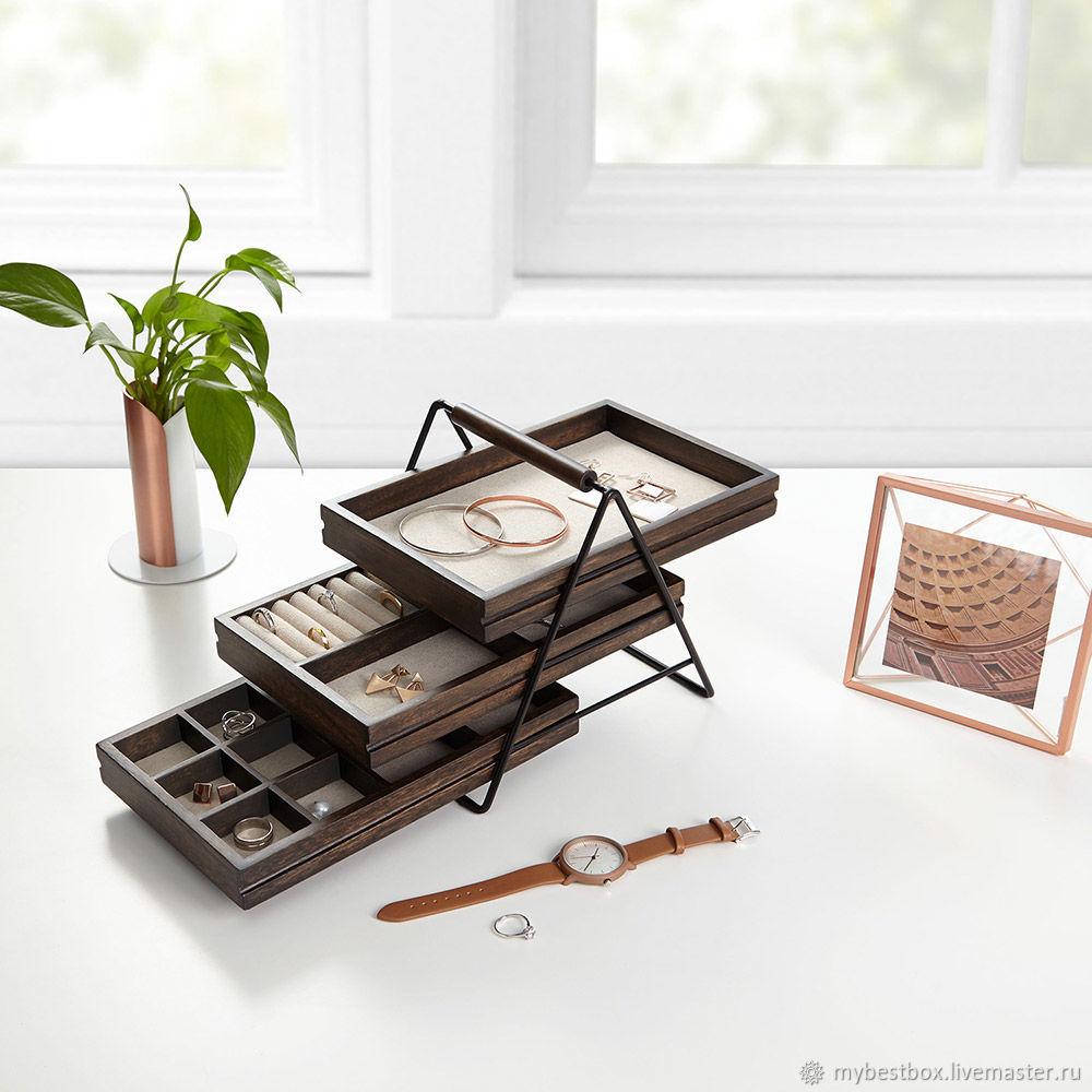 Jewelry box TERRACE walnut, Box, Moscow,  Фото №1
