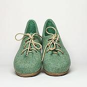 """Обувь ручной работы. Ярмарка Мастеров - ручная работа Валяные туфли """"Мохито"""".. Handmade."""