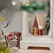 """Подарки к праздникам ручной работы. Ярмарка Мастеров - ручная работа Ночник """"Зимний вечер"""". Handmade."""