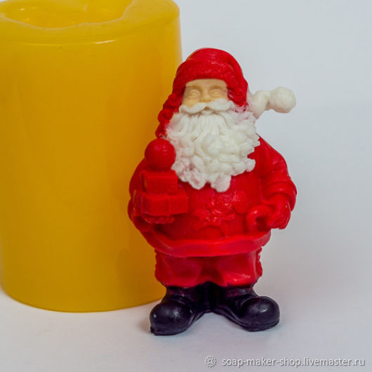 Silicone mold for soap 'Santa 3D', Form, Shahty,  Фото №1