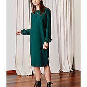 Одежда ручной работы. Ярмарка Мастеров - ручная работа Зеленое платье из Lara. Handmade.