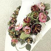 Украшения handmade. Livemaster - original item Morning Wild Cherry. Necklace, flowers. Handmade.