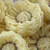 Цветы и флористика ручной работы. Ярмарка Мастеров - ручная работа Цветы из пряжи жёлтые. Handmade.