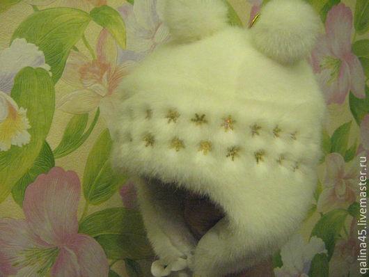 Шапки и шарфы ручной работы. Ярмарка Мастеров - ручная работа. Купить Шапочка из искусственного меха Снегурочка. Handmade. Белый