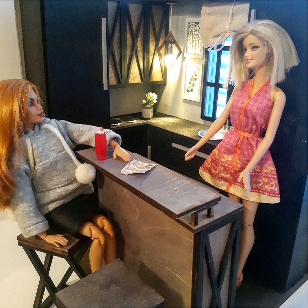 Кухня для кукол Барби в стиле Лофт. Румбокс, Мебель для кукол, Хабаровск,  Фото №1