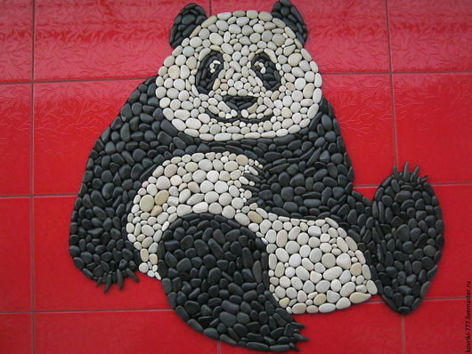 Каменный коврик `Панда` Размер 83х80 см. Цена 12000 руб.