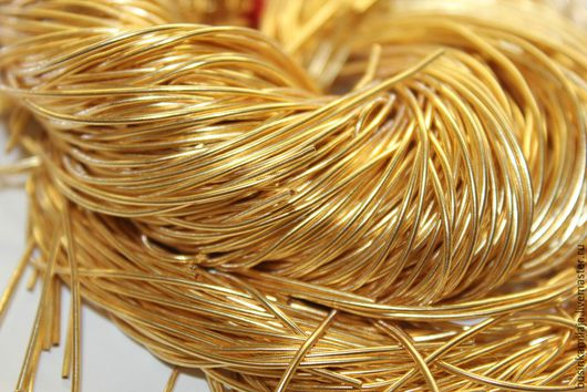 Вышивка ручной работы. Ярмарка Мастеров - ручная работа. Купить Канитель индийская Золото 1 мм (101). Handmade. Канитель
