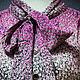 Одежда. Ярмарка Мастеров - ручная работа. Купить Платье винтаж 70-е Америка. Handmade. Комбинированный, винтажное платье