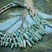 Украшения handmade. Livemaster - original item Amazon - volume three-row necklace. Handmade.