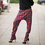 Одежда ручной работы. Ярмарка Мастеров - ручная работа Брюки в клетку, Женские брюки, Брюки с карманом, Брюки. Handmade.
