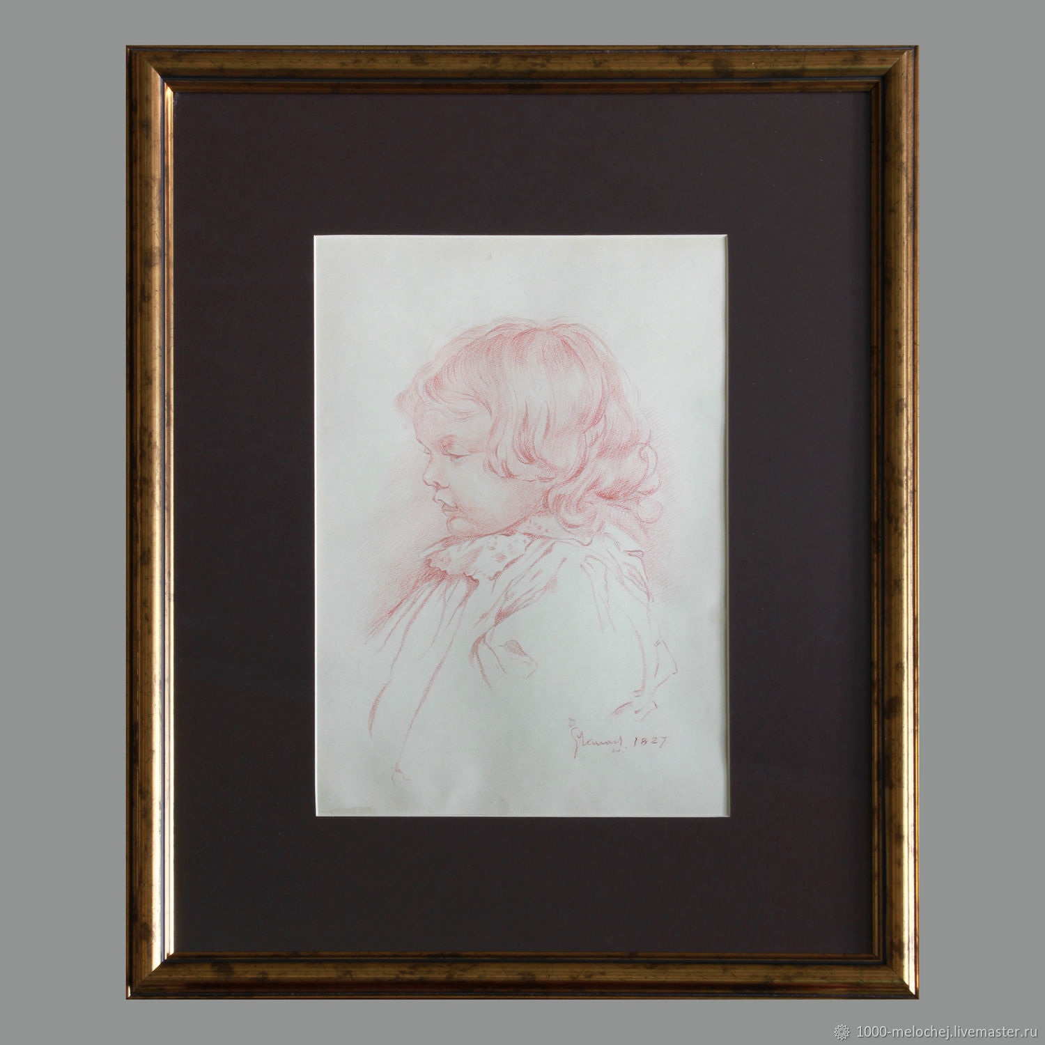Antique painting 1827 'children's portrait' 19th century, Pictures, Moscow,  Фото №1