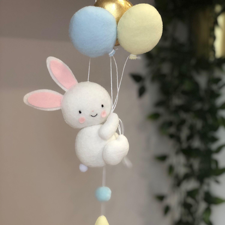 Фото зайка с шариком