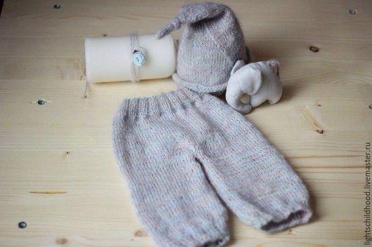 Для новорожденных, ручной работы. Ярмарка Мастеров - ручная работа. Купить Костюм для новорожденного, штанишки и шапочка для фотосессии, игрушка. Handmade.